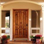 407 CLCE Clear Alder 9 Panel Porch EB Door