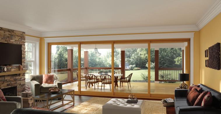 Milgrad builders direct supply for Full wall sliding glass doors